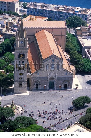 Cathedral of Messina - inside dome Stock photo © ankarb