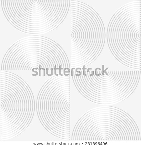 White paper 3D striped semi circles Stock photo © Zebra-Finch