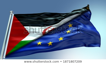 European Union and Western Sahara Flags Stock photo © Istanbul2009