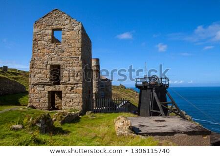 Bánya történelmi tengerpart Cornwall nyaláb gép Stock fotó © chris2766