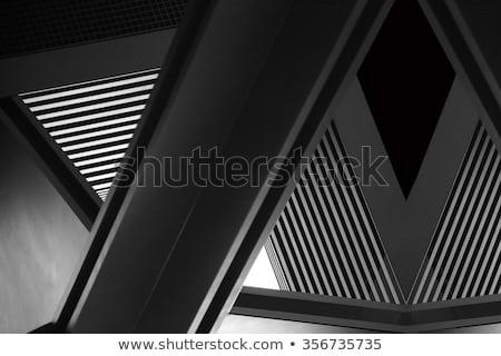 Kolommen zwart wit alhambra paleis Spanje meester Stockfoto © rmbarricarte