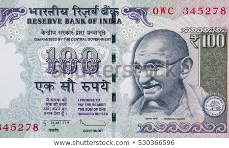 Close-up of Indian One Hundred rupee banknote Stock photo © imagedb