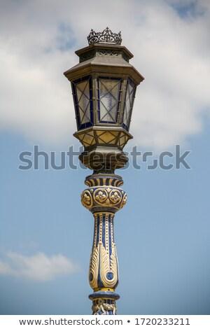 моста лампы пост башни Испания квадратный Сток-фото © rmbarricarte