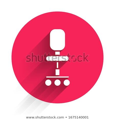 Wheel Chair Red Vector Icon Button Stock photo © rizwanali3d
