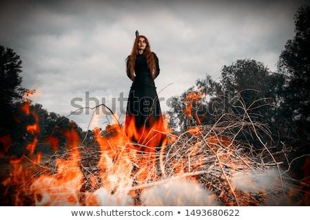 burning witch Stock photo © adrenalina