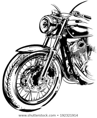 Abstrato desenho motocicleta vidro silhueta raça Foto stock © shawlinmohd