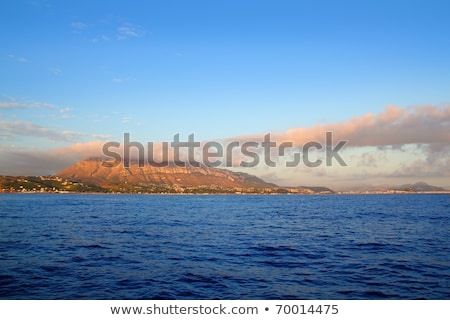 Cloudy seascape blue ocean sea in Mongo Denia Stock photo © lunamarina