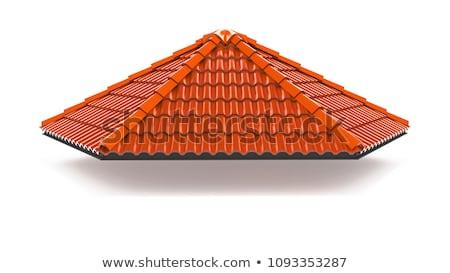 model · mavi · çatı · fayans · arka · plan · kentsel - stok fotoğraf © master1305
