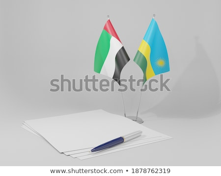 United Arab Emirates and Rwanda Flags Stock photo © Istanbul2009