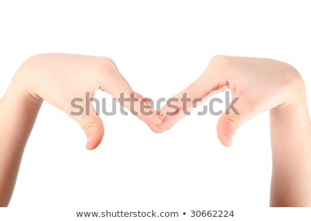hands represents letter M from alphabet Stock photo © Paha_L