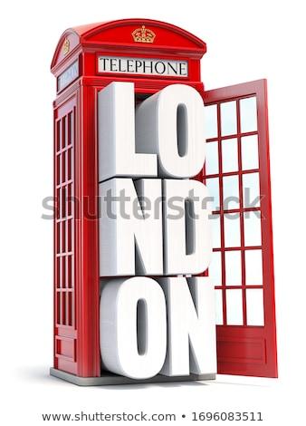 İngilizler telefon kutu kırmızı iletişim geleneksel Stok fotoğraf © ndjohnston