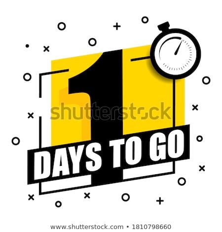 1 Month Deal Yellow Vector Icon Design Stock photo © rizwanali3d