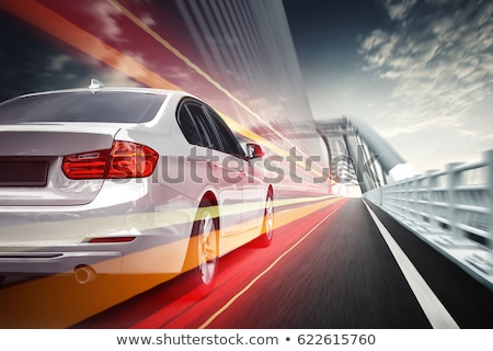 rear view of moving car stock photo © ssuaphoto
