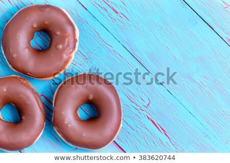 3  ぱりぱり クリーム チョコレート ドーナツ リング ストックフォト © ozgur