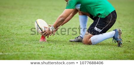 Rugby jogador pronto chutá branco esportes Foto stock © wavebreak_media
