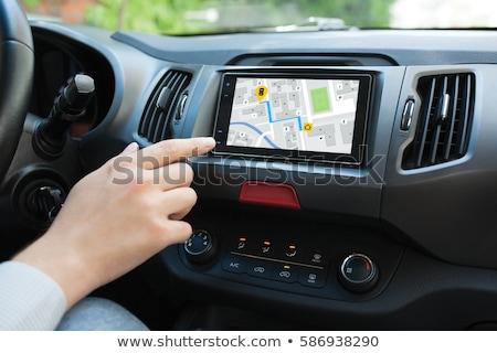 Coche navegación portátil dispositivo Internet mapa Foto stock © ssuaphoto