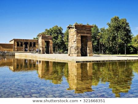 Egipcjanin świątyni Madryt Hiszpania rok starych Zdjęcia stock © pedrosala