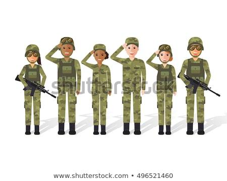 Soldado munición diseno mochila militar armas Foto stock © jossdiim