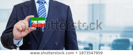 Credit card with Equatorial Guinea flag background for bank, presentations and business. Isolated on Stock photo © tkacchuk