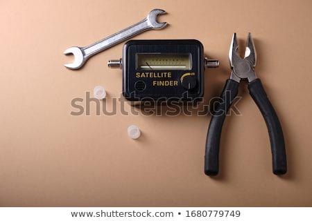Ver desatualizado eletrônica equipamento mesa de madeira escritório Foto stock © ozgur