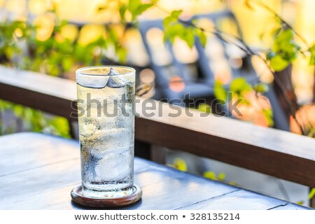 glass full of fresh water with ice Stock photo © mady70