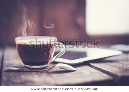 утра кофе работу свежие Кубок Сток-фото © tab62
