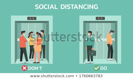 Infographic with people doing business Stock photo © bluering