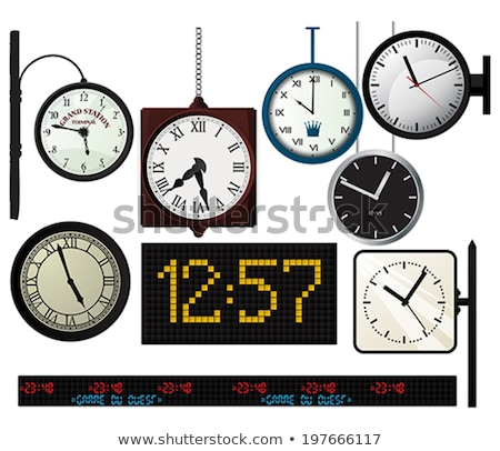 railway clocks vector illustration stock photo © m_pavlov