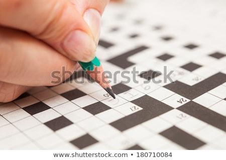 головоломки слово наслаждаться головоломки служба счастливым Сток-фото © fuzzbones0