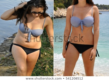 girl before and after diet Stock photo © adrenalina