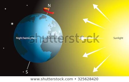 Föld rotáció űr Afrika földrész absztrakt Stock fotó © klss
