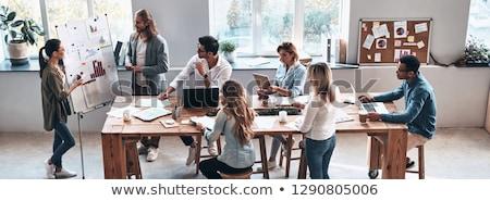 vállalkozók · táblázatok · ázsiai · dolgozik · iratok · üzlet - stock fotó © dolgachov