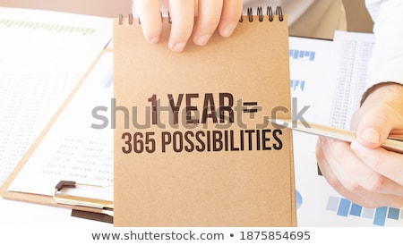 Lehetséges szöveg jegyzettömb üzlet iroda ceruza Stock fotó © fuzzbones0