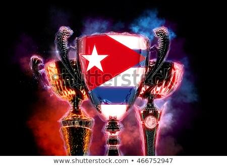 トロフィー カップ フラグ キューバ デジタルイラストレーション ストックフォト © Kirill_M