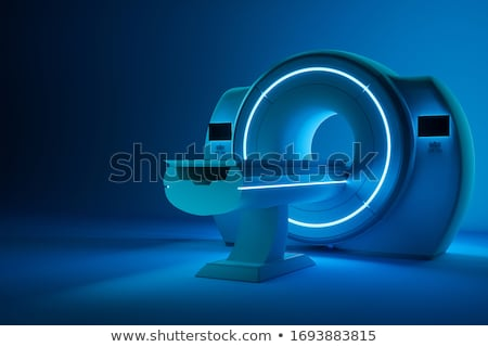 Mri machine illustratie tonen magnetisch hersenen Stockfoto © bluering