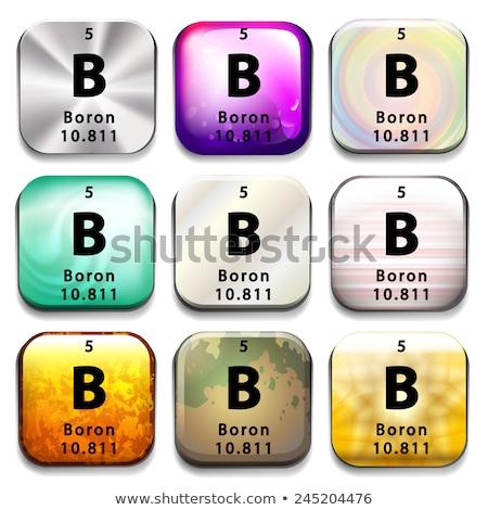Periódusos rendszer gomb mutat oktatás fehér kémia Stock fotó © bluering