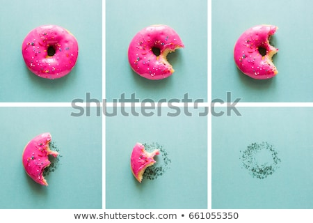 Finom fánk édes étel asztal étel csokoládé Stock fotó © racoolstudio
