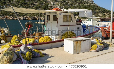 Fishing boat with nets at the island of Alonissos, Greece Stock photo © ankarb