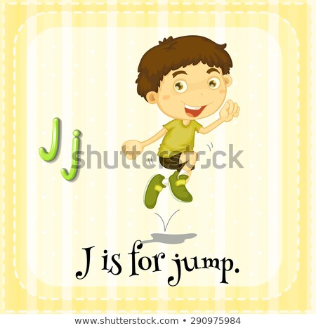 Flashcard alphabet J is for jump Stock photo © bluering
