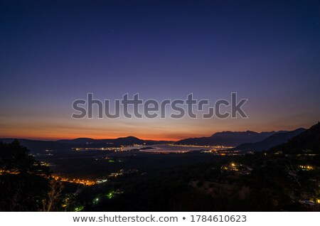 Stock photo: Bay of Kotor in Evening. Panorama of Boka-Kotorska bay, Montenegro.