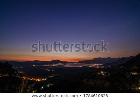 Bay Of Kotor In Evening Panorama Of Boka Kotorska Bay Montenegro Foto stock © nikitabuida