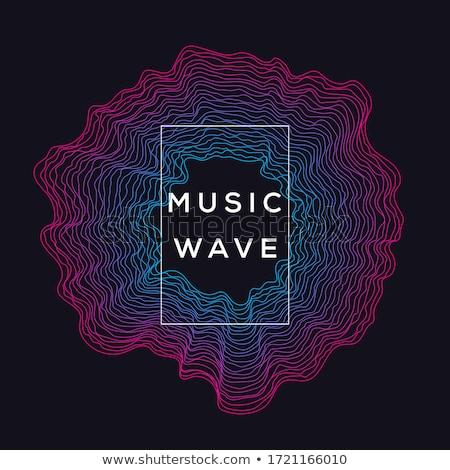 Preto música soar ondas eps 10 Foto stock © beholdereye