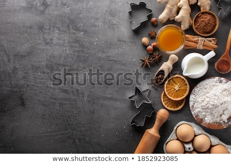 Brown cookies on wooden background stock photo © kb-photodesign