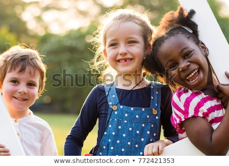 Kids having fun at the fun park Stock photo © bluering
