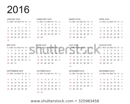 2016 calender Stock photo © SArts