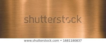 Bronz fém technológia csiszolt körkörös textúra Stock fotó © molaruso