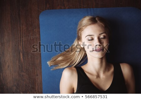 Top view fitness donna cute giovani Foto d'archivio © deandrobot