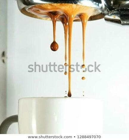 kávéfőző · kávé · fém · étterem · ital · kávézó - stock fotó © kayros