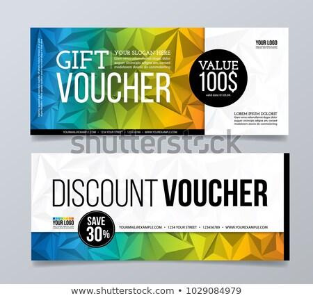 Geschenken korting bon kleurrijk cirkels geld Stockfoto © SArts