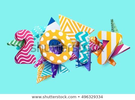 boldog · új · évet · üdvözlőlap · 3D · renderelt · kép · illusztráció · izolált - stock fotó © sarts